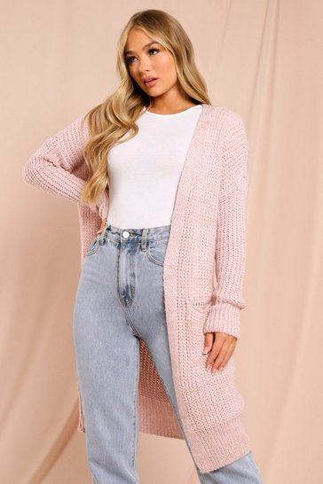 Blush Oversized Knitted Cardigan