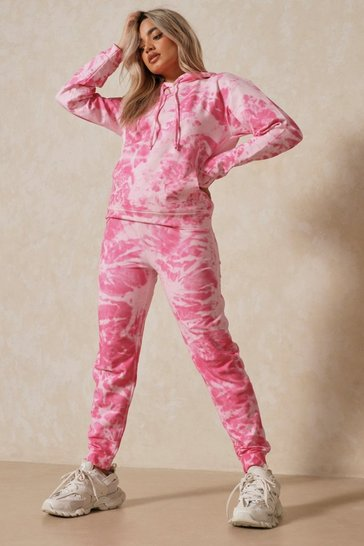 Pink Tie Dye Oversized Sweatshirt and Jogger Set