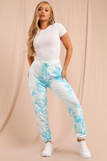 Turquoise Tie Dye Oversized Jogger
