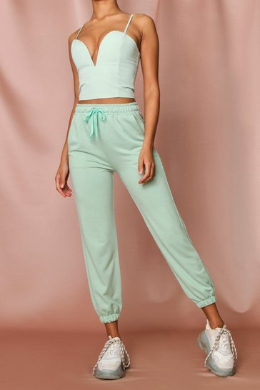 Mint Basic Drawstring Joggers