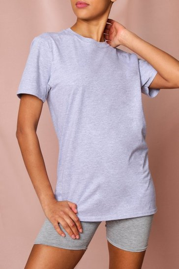 Grey Oversized T-Shirt & Cycle Short