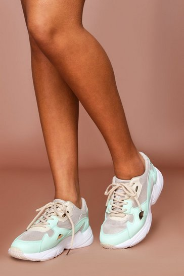 Mint Panelled Chunky Trainer