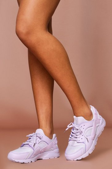Lilac Sport Style Chunky Trainer