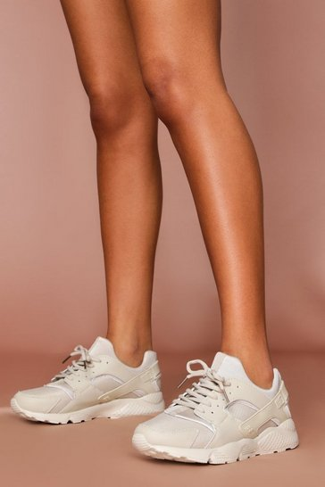 Nude Sport Style Chunky Trainer