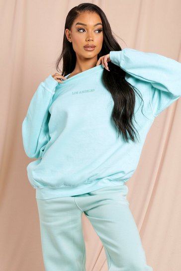 Mint Los Angeles Slogan Oversized Sweatshirt