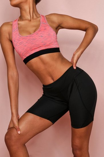 Coral Active Racer Back Marl Sports Bra