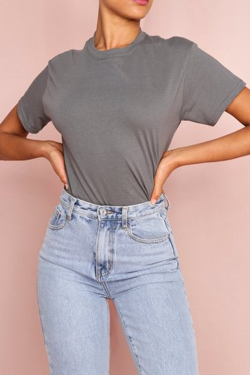 Charcoal Pastel Oversized Boyfriend T Shirt