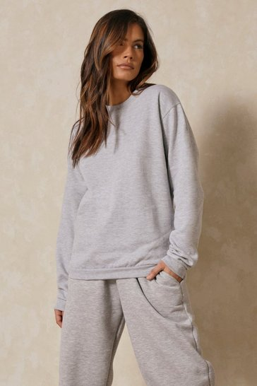 Grey marl Oversized Boyfriend Sweater