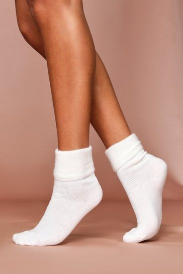 Cream Super Soft Bedsocks