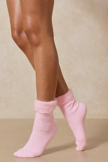Pink Super Soft Bed Socks