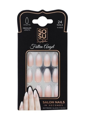 Natural Sosu by SJ Fallen Angel Faux Nails