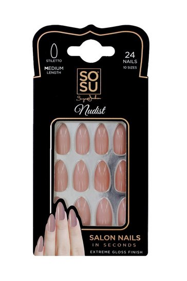 Natural Sosu Nudist False Nails