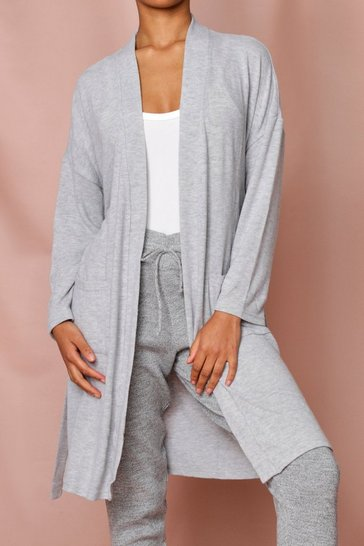Grey Lightweight Dressing Gown