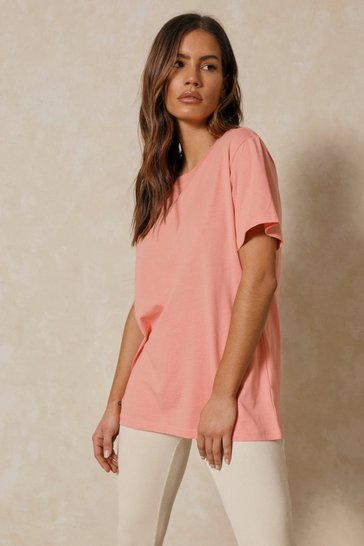 Peach Boxy Oversized T Shirt
