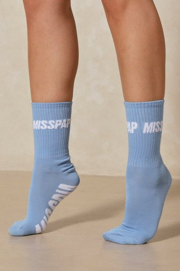 Blue MISSPAP Branded Socks
