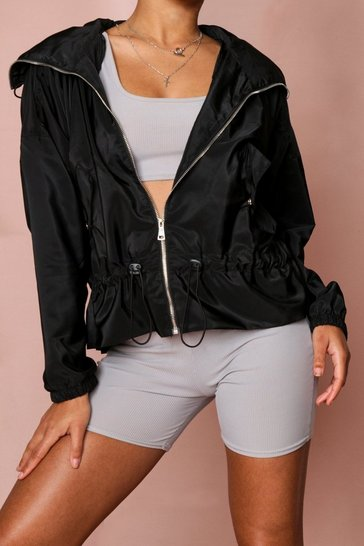 Black Wind Breaker Jacket
