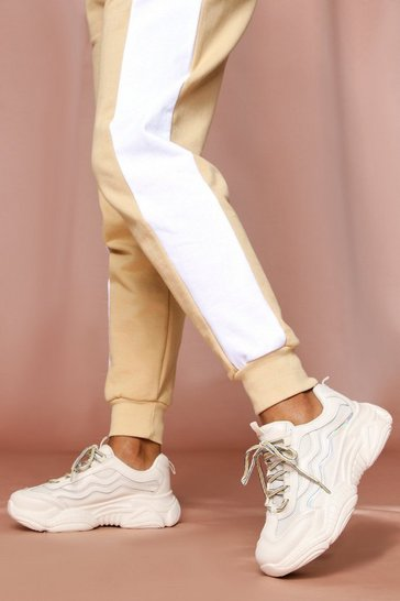 Beige Holographic Detail Chunky Trainer