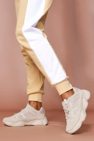 Nude Panel Contrast Trainers