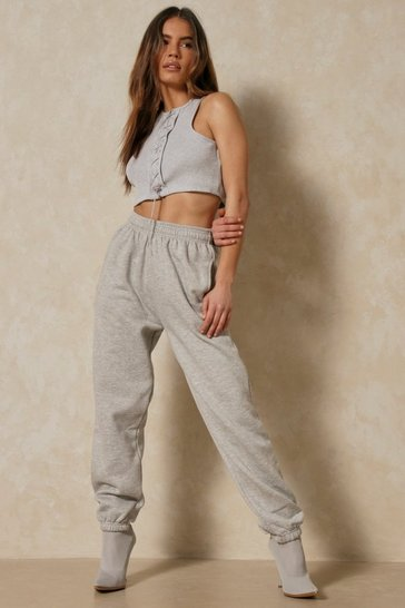 Grey Super Soft Drawstring Joggers
