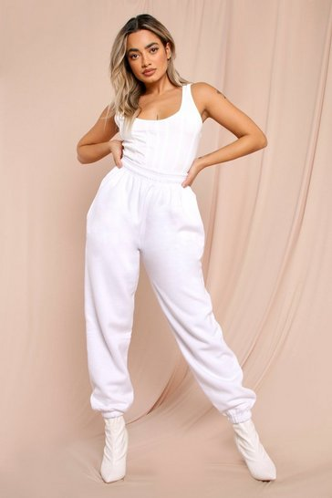 White Super Soft Drawstring Joggers