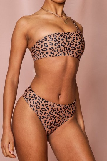 Leopard High Leg Bikini Brief