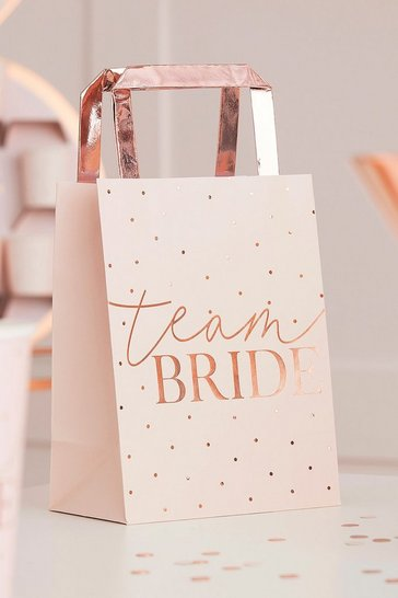 Pink ginger ray team bride party bag