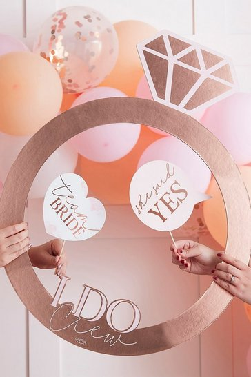 Pink ginger ray ring photobooth frame