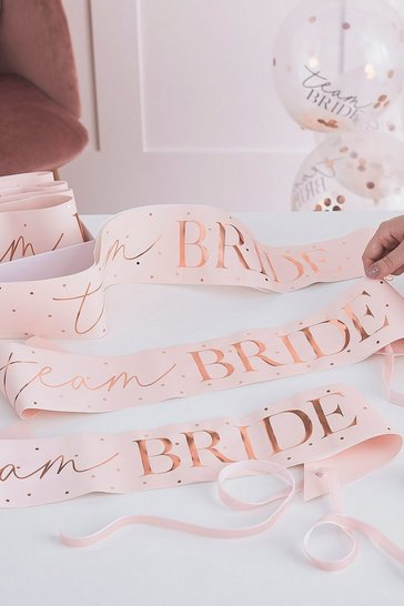 Pink ginger ray bride sash
