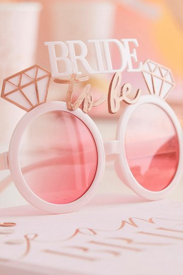 White ginger ray bride to be sunglasses