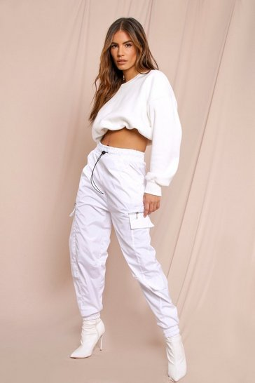 White shell pocket jogger
