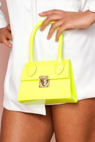 Neon-lime neon mini structured grab bag