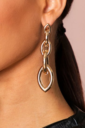 Gold chunky chainlink earring