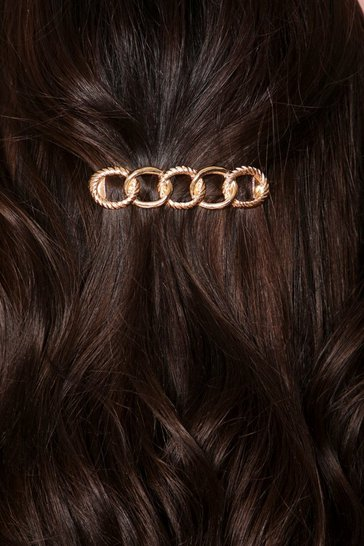 Gold chain detail hair clip
