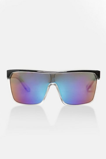 Multi flat top curved lens sunglasses