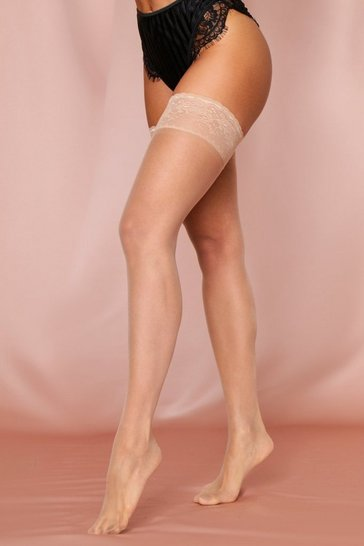 Nude Sheer Lace Stocking