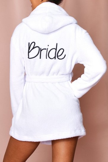 Ivory bride script embroidered gown