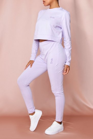 Lilac Bride Embroidered Legging Set