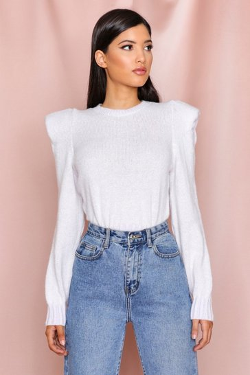 Lilac Structured Shoulder Sweater