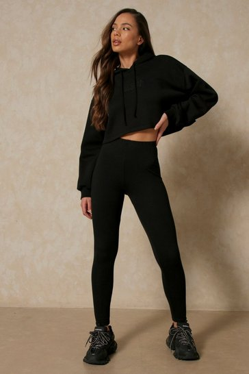 Black Jersey Legging