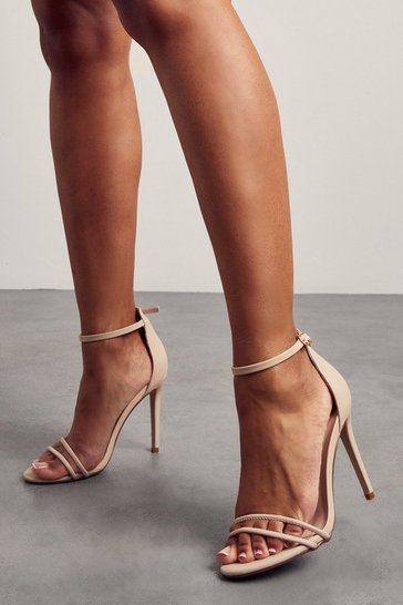 Nude Strappy detail barely there high heels