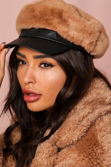 Camel Teddy Borg Baker Boy Hat