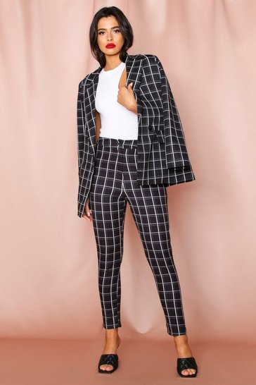 Blackwhite Check Mono Tapered Pants