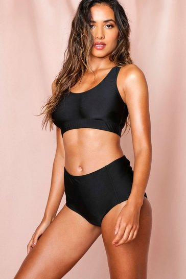Black Mix + Match Highwaist Bikini Brief