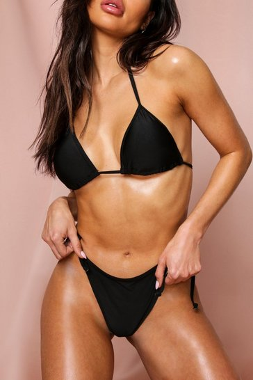 Black Mix + Match Tie Side Bikini Brief