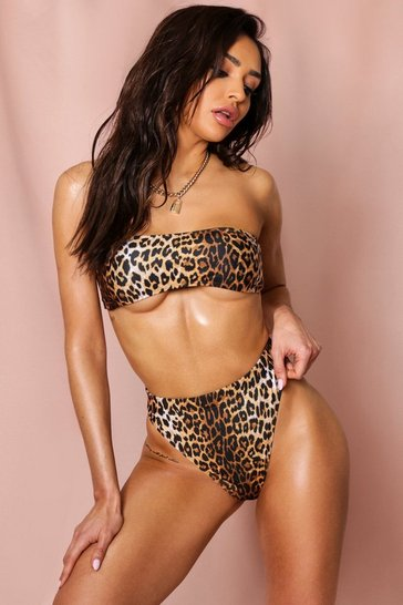Leopard Mix + Match High Leg High Waist Brief