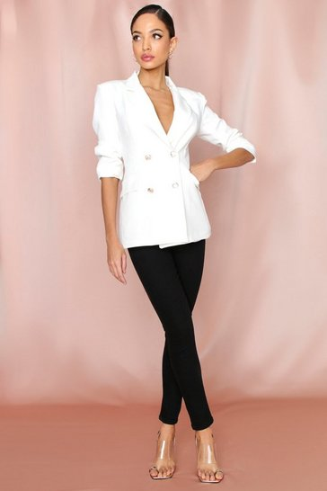Black High Rise Super Stretch Disco Skinny Jeans