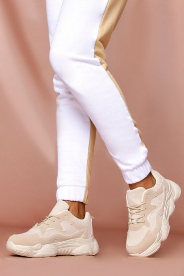 Beige Fashion Chunky Sole Trainer