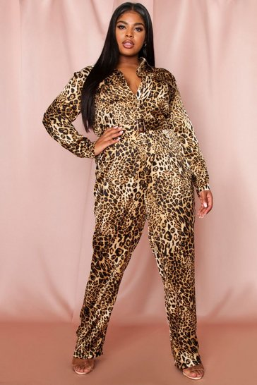 Leopard Utility Belted Jumpsuit