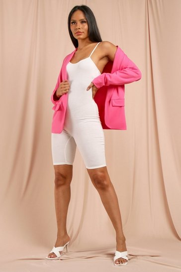 Pink Relaxed Tailored Blazer