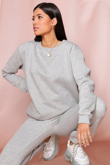 Grey Ultimate Oversized Fleece Sweatshirt